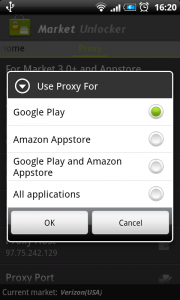 Use Proxy for Application